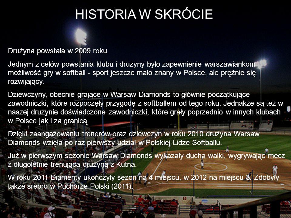 HISTORIA W SKRÓCIE Drużyna powstała w 2009 roku.