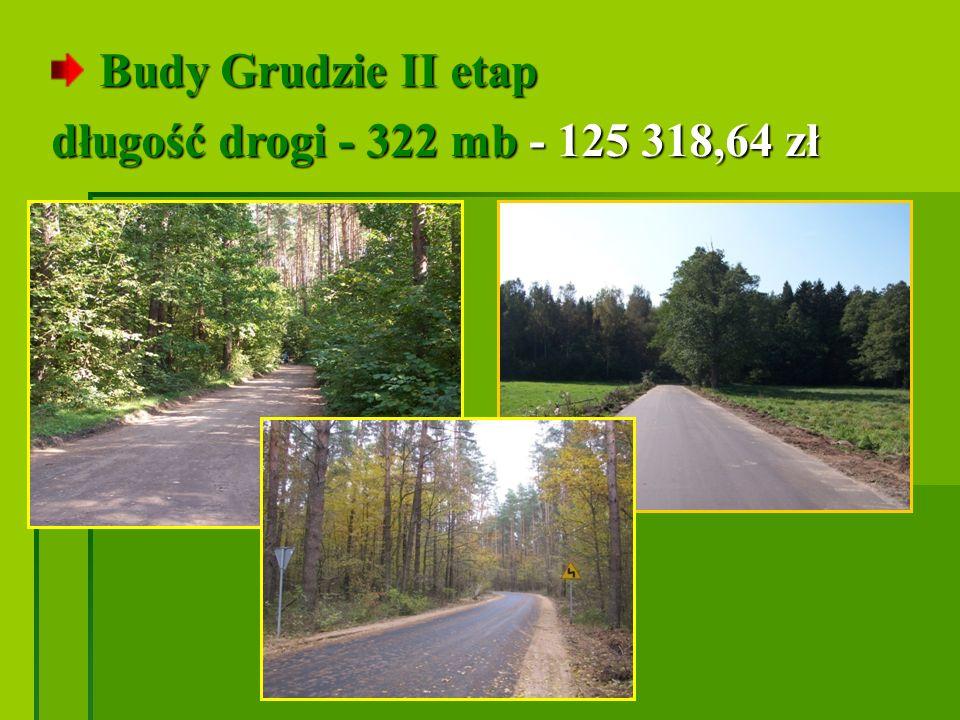 Budy Grudzie II etap długość drogi - 322 mb - 125 318,64 zł