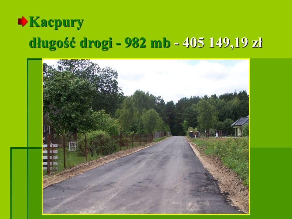 Kacpury długość drogi - 982 mb - 405 149,19 zł