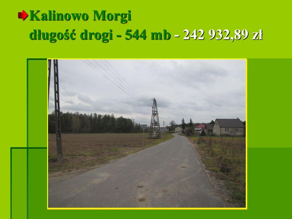 Kalinowo Morgi długość drogi - 544 mb - 242 932,89 zł