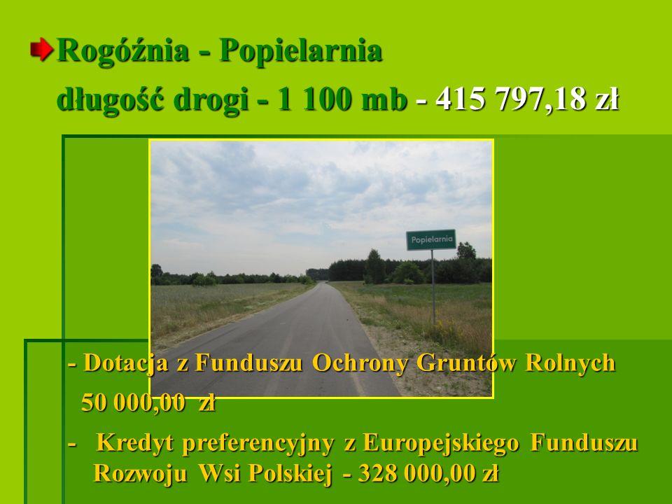 Rogóźnia - Popielarnia długość drogi - 1 100 mb - 415 797,18 zł