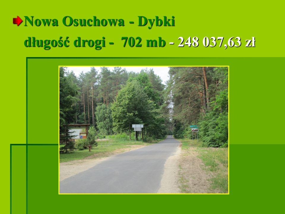 Nowa Osuchowa - Dybki długość drogi - 702 mb - 248 037,63 zł