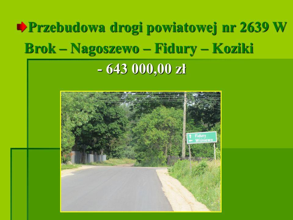 Przebudowa drogi powiatowej nr 2639 W