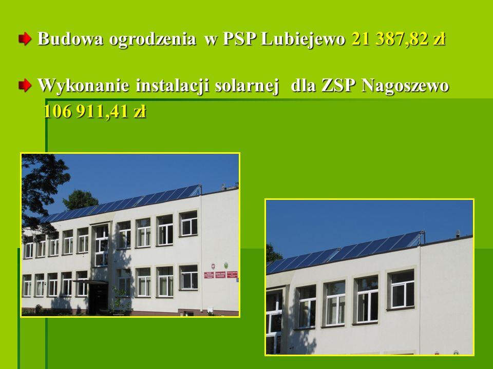Budowa ogrodzenia w PSP Lubiejewo 21 387,82 zł
