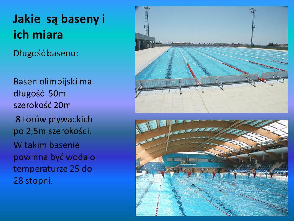 Jakie są baseny i ich miara