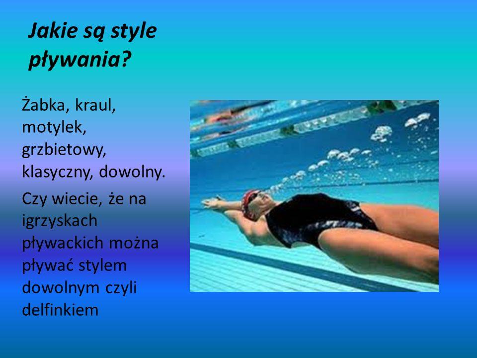 Jakie są style pływania
