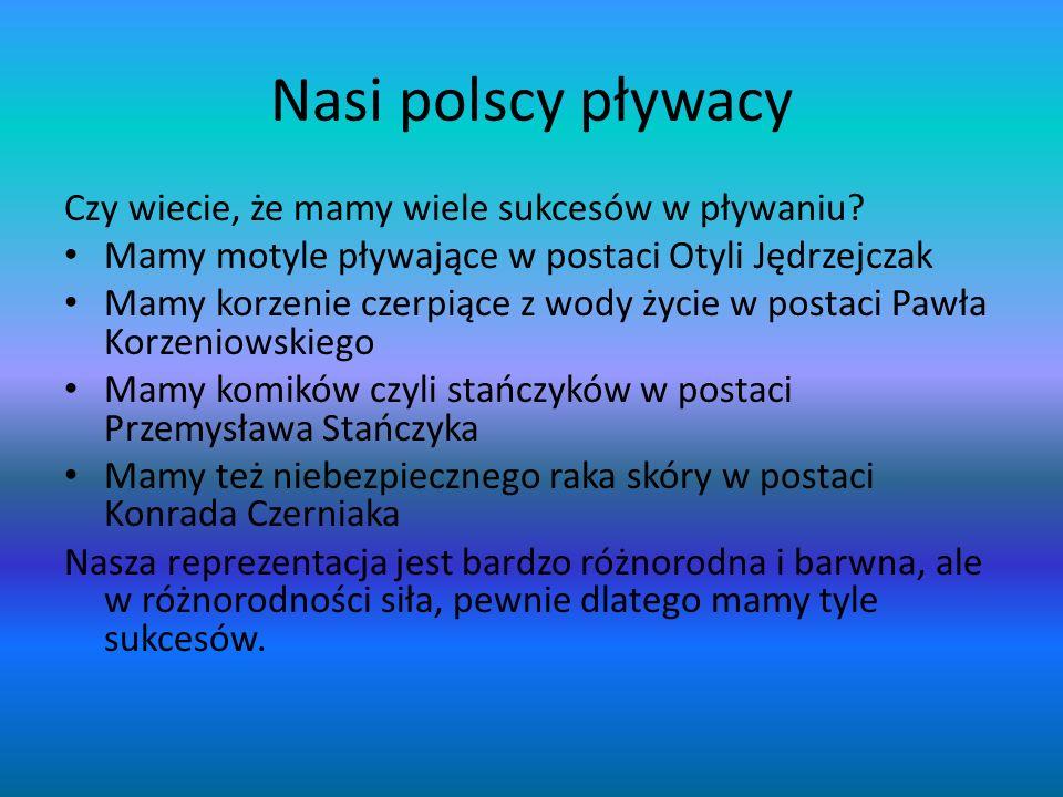 Nasi polscy pływacy Czy wiecie, że mamy wiele sukcesów w pływaniu