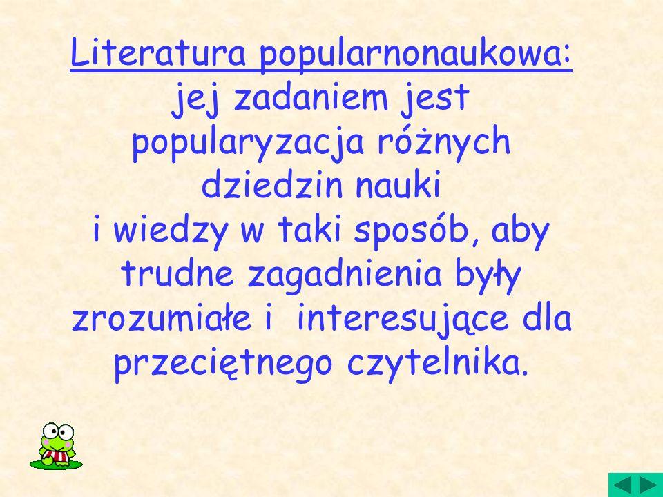 Literatura popularnonaukowa: