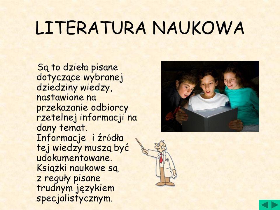 LITERATURA NAUKOWA