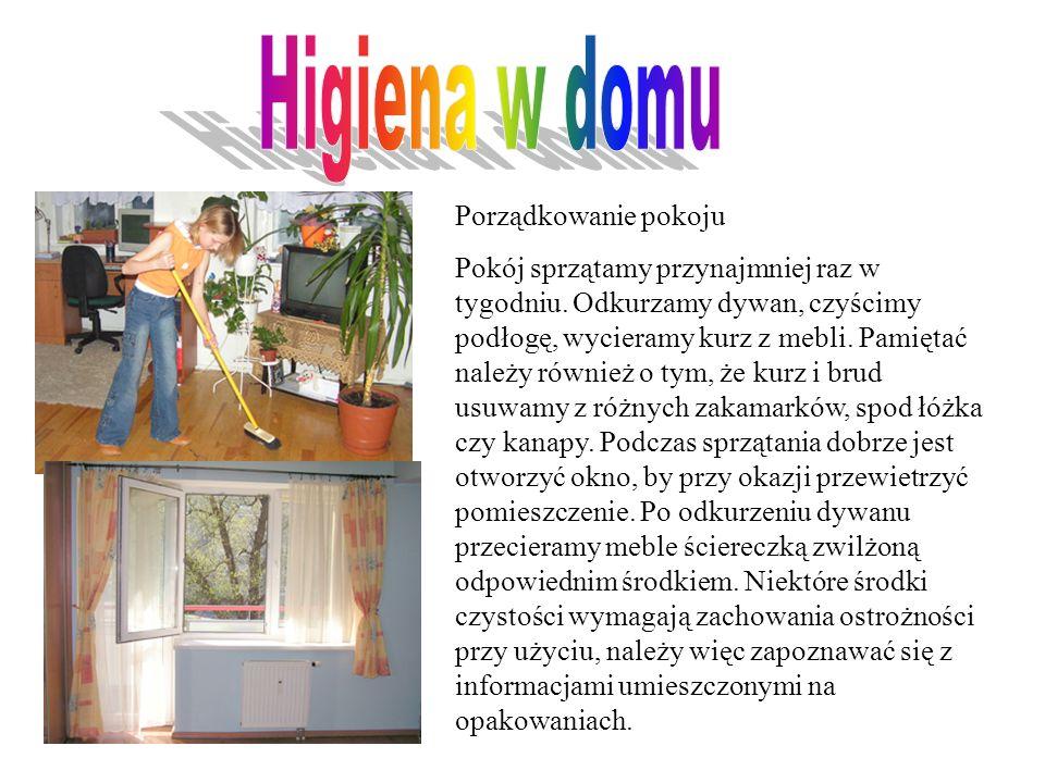 Higiena w domu Porządkowanie pokoju
