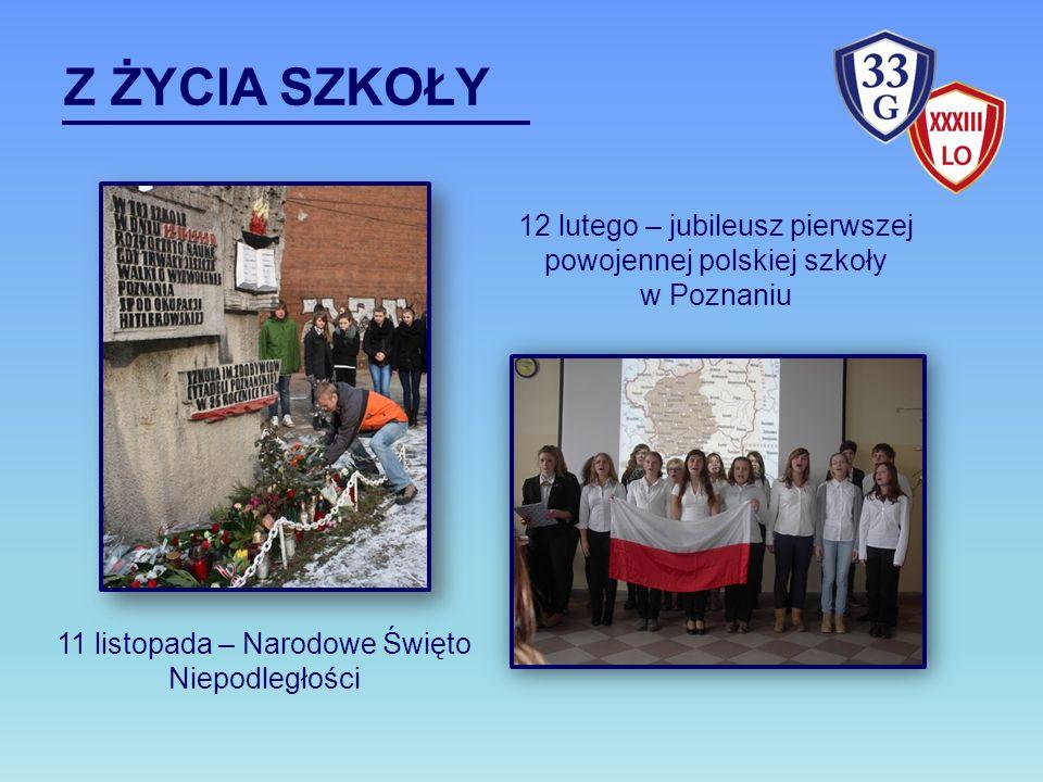 Z ŻYCIA SZKOŁY 12 lutego – jubileusz pierwszej powojennej polskiej szkoły.