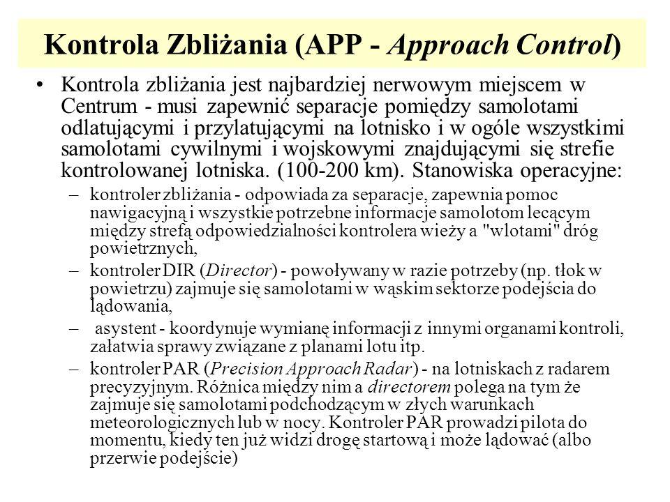 Kontrola Zbliżania (APP - Approach Control)