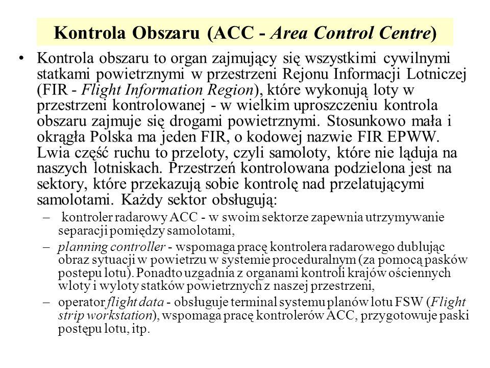 Kontrola Obszaru (ACC - Area Control Centre)