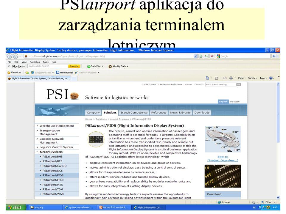 PSIairport aplikacja do zarządzania terminalem lotniczym