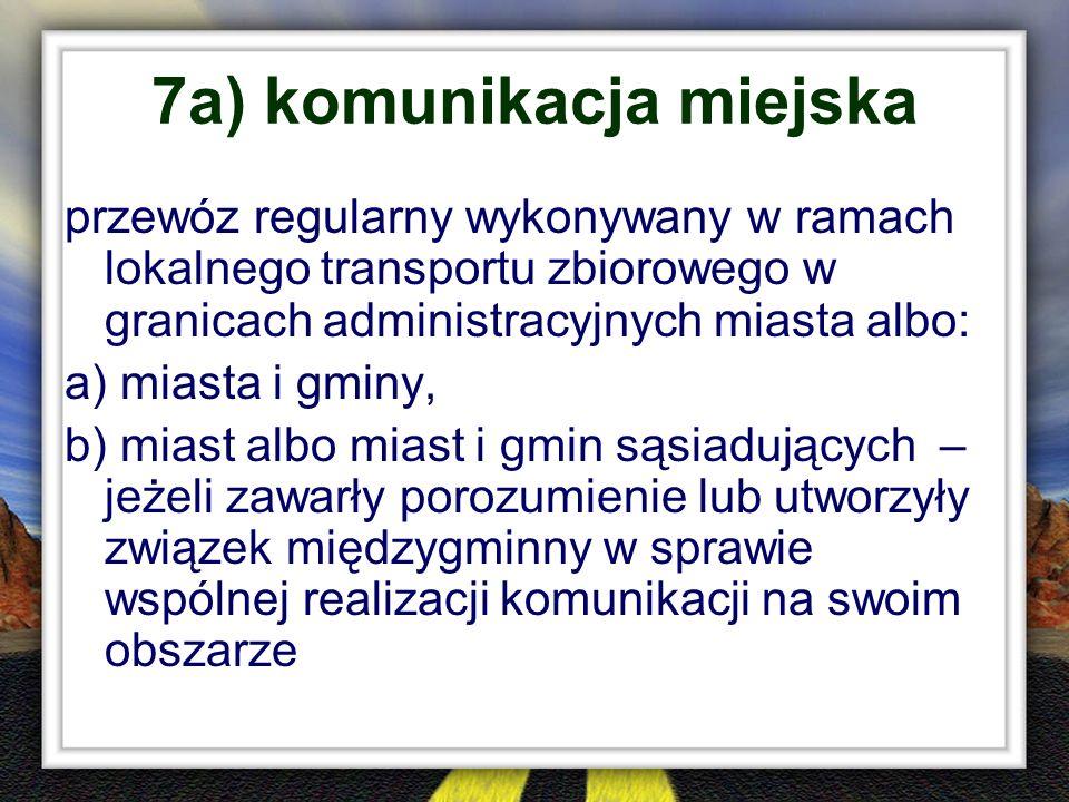 7a) komunikacja miejska