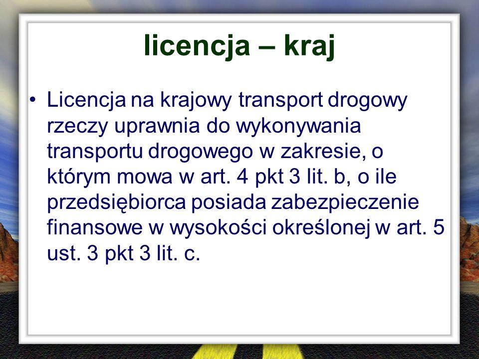 licencja – kraj