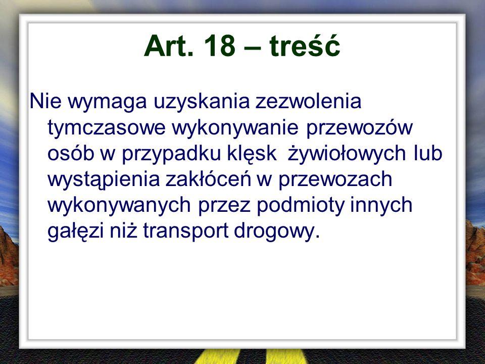 Art. 18 – treść