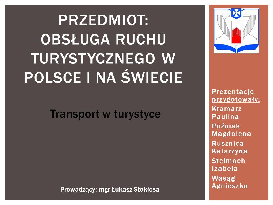 Przedmiot: OBSŁUGA RUCHU TURYSTYCZNEGO W POLSCE I NA ŚWIECIE