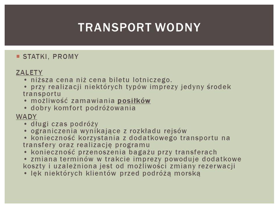 Transport wodny STATKI, PROMY