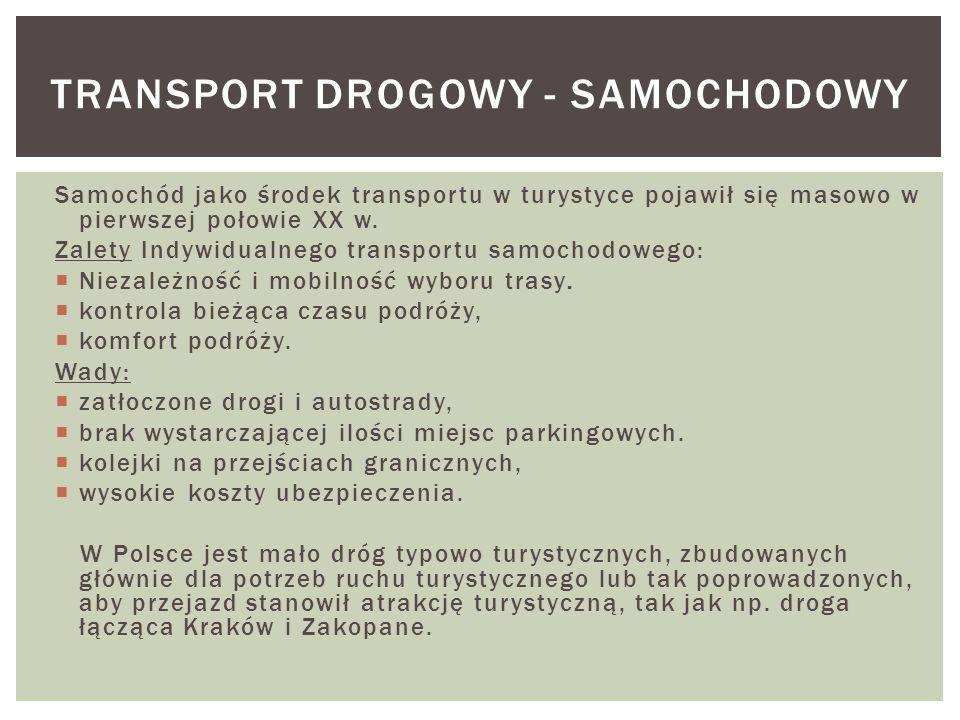 TRANSPORT DROGOWY - SAMOCHODOWY
