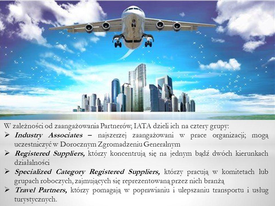 W zależności od zaangażowania Partnerów, IATA dzieli ich na cztery grupy: