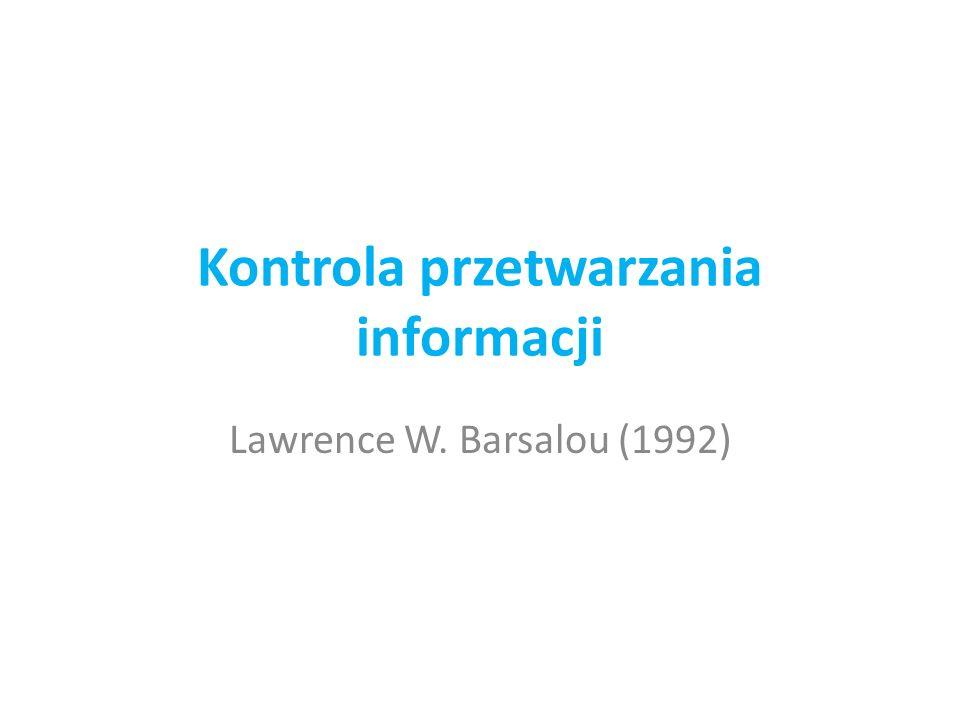Kontrola przetwarzania informacji