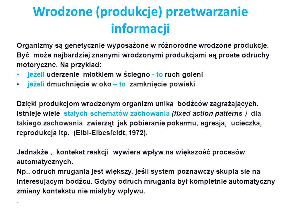 Wrodzone (produkcje) przetwarzanie informacji
