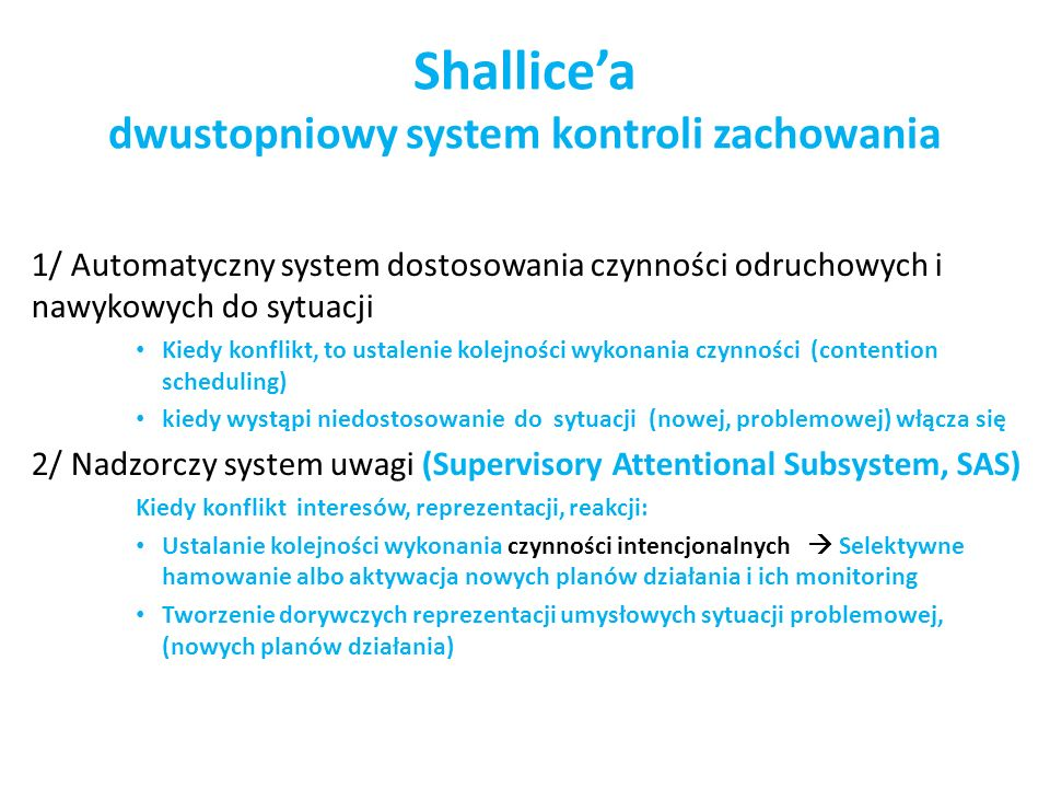Shallice'a dwustopniowy system kontroli zachowania
