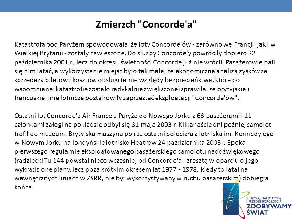 Zmierzch Concorde a