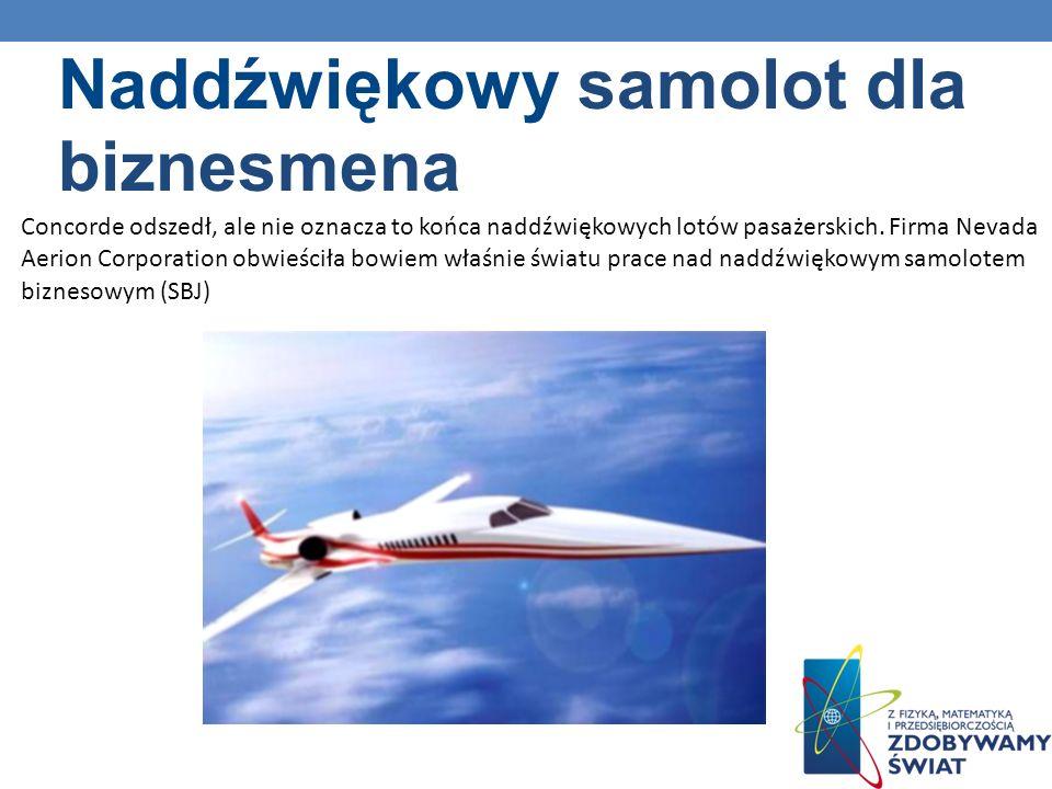 Naddźwiękowy samolot dla biznesmena