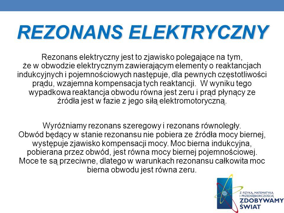 REZONANS ELEKTRYCZNY