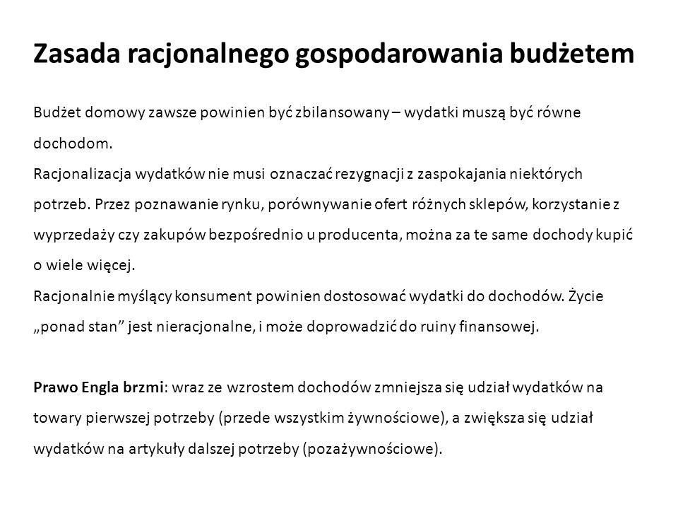 Zasada racjonalnego gospodarowania budżetem