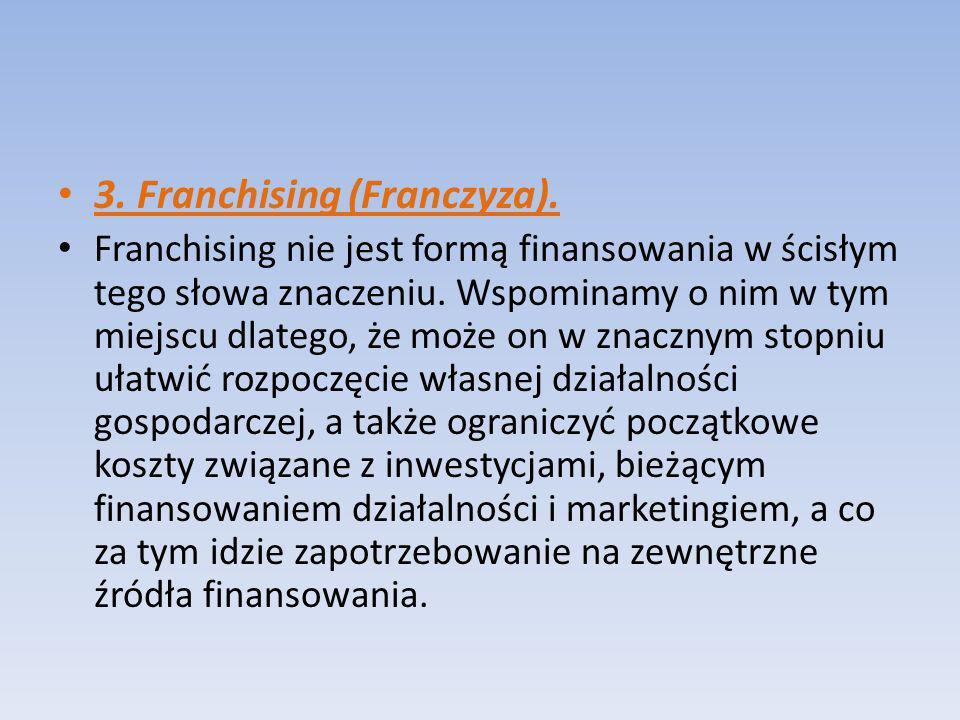 3. Franchising (Franczyza).
