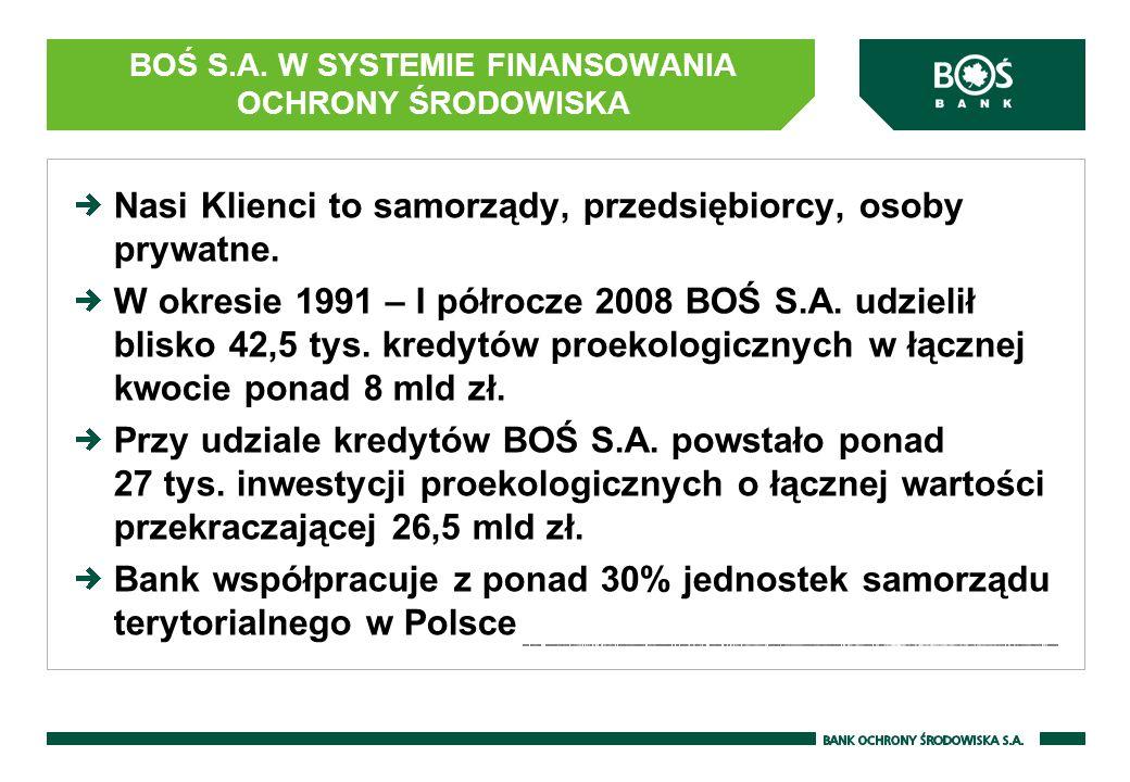 BOŚ S.A. W SYSTEMIE FINANSOWANIA OCHRONY ŚRODOWISKA