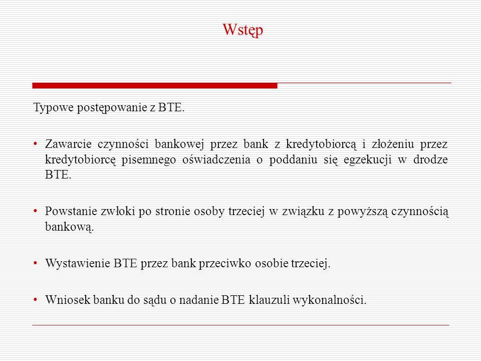 Wstęp Typowe postępowanie z BTE.