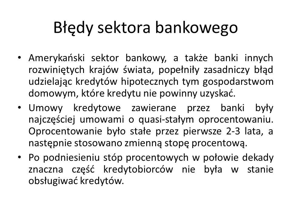 Błędy sektora bankowego