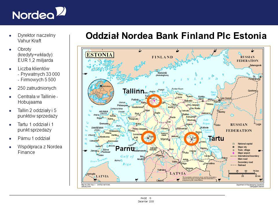 Oddział Nordea Bank Finland Plc Estonia