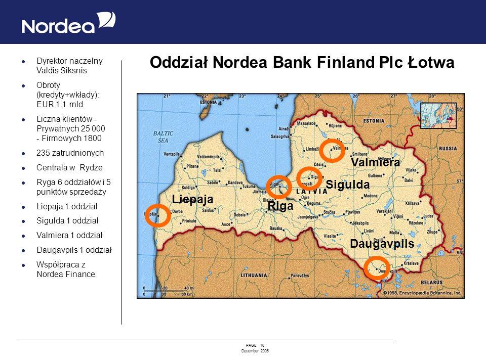 Oddział Nordea Bank Finland Plc Łotwa