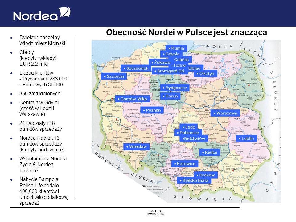 Obecność Nordei w Polsce jest znacząca