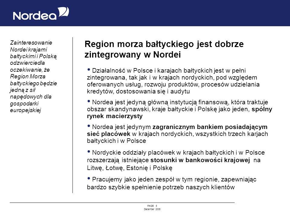 Region morza bałtyckiego jest dobrze zintegrowany w Nordei