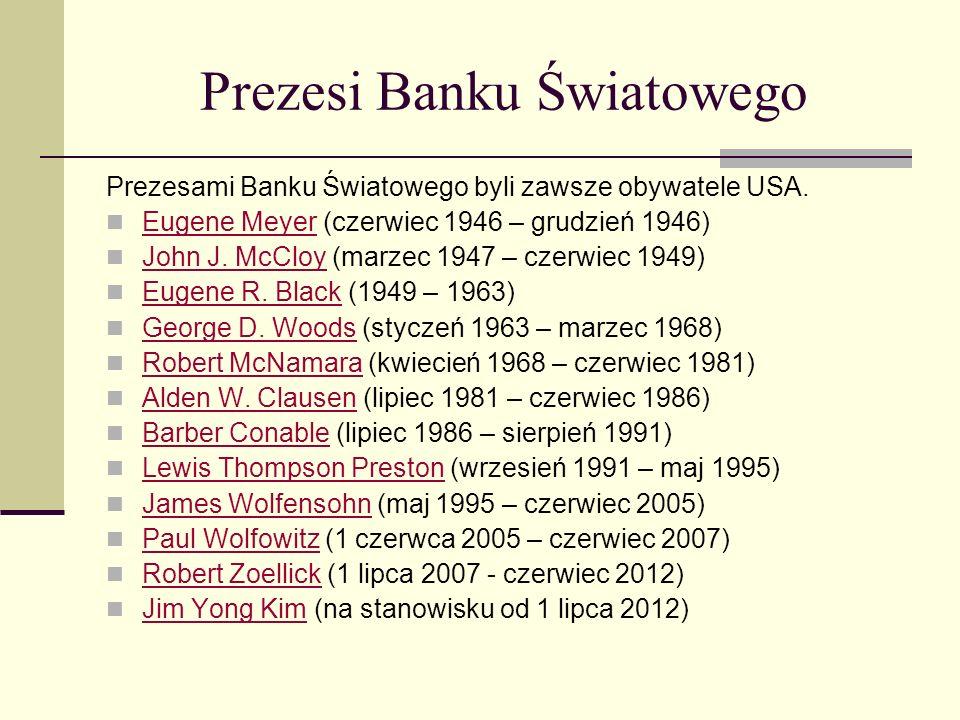 Prezesi Banku Światowego