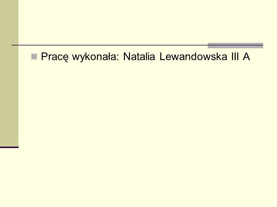 Pracę wykonała: Natalia Lewandowska III A