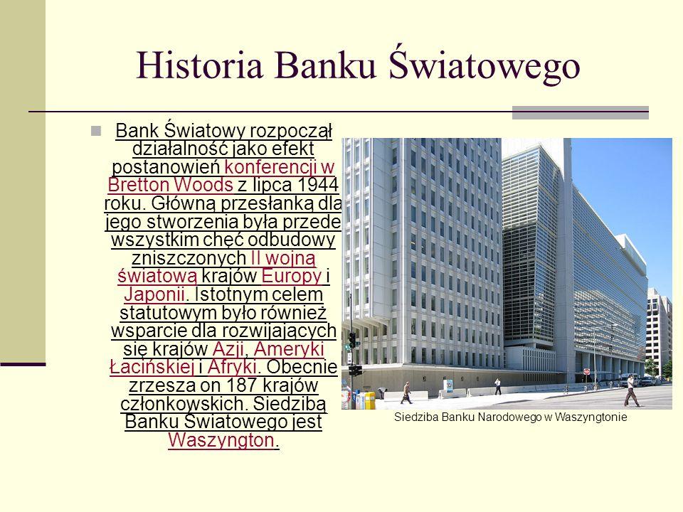 Historia Banku Światowego
