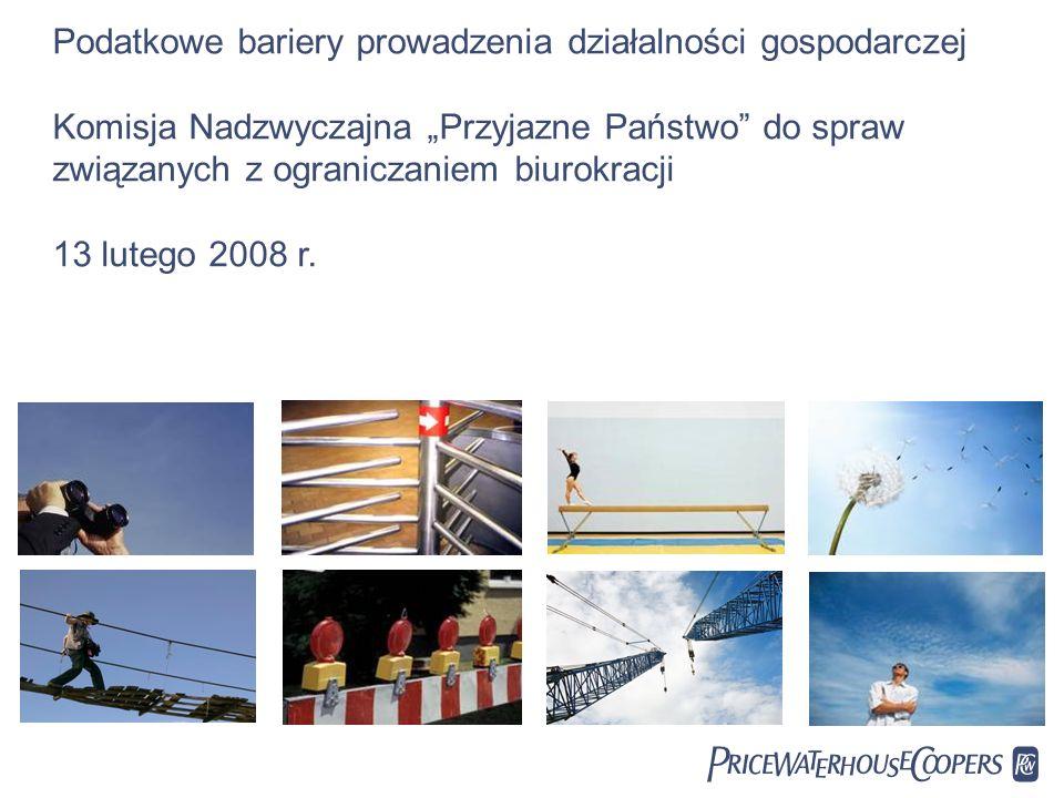 PwC Podatkowe bariery prowadzenia działalności gospodarczej