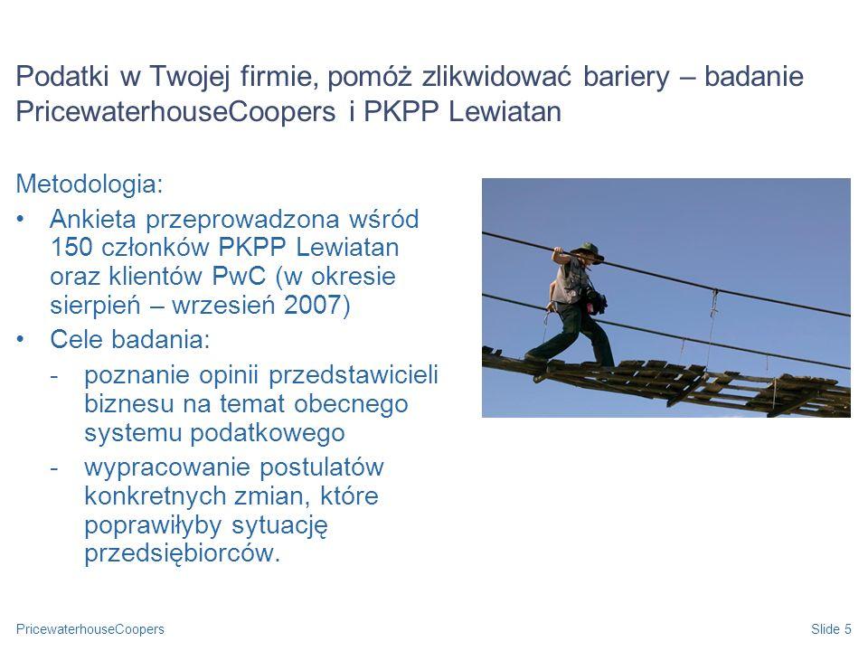 Podatki w Twojej firmie, pomóż zlikwidować bariery – badanie PricewaterhouseCoopers i PKPP Lewiatan