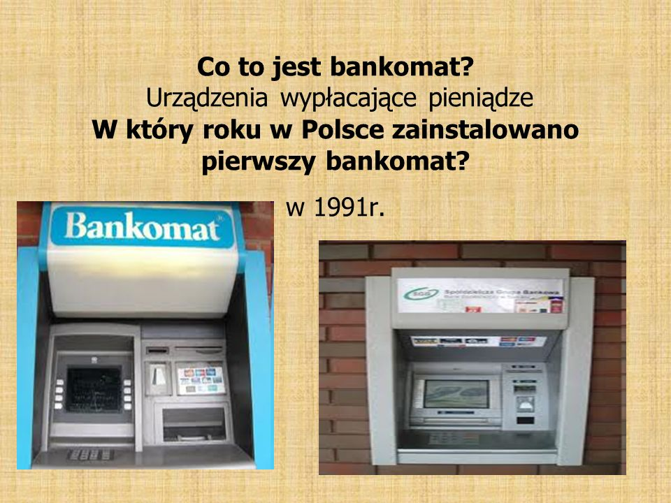 Co to jest bankomat.