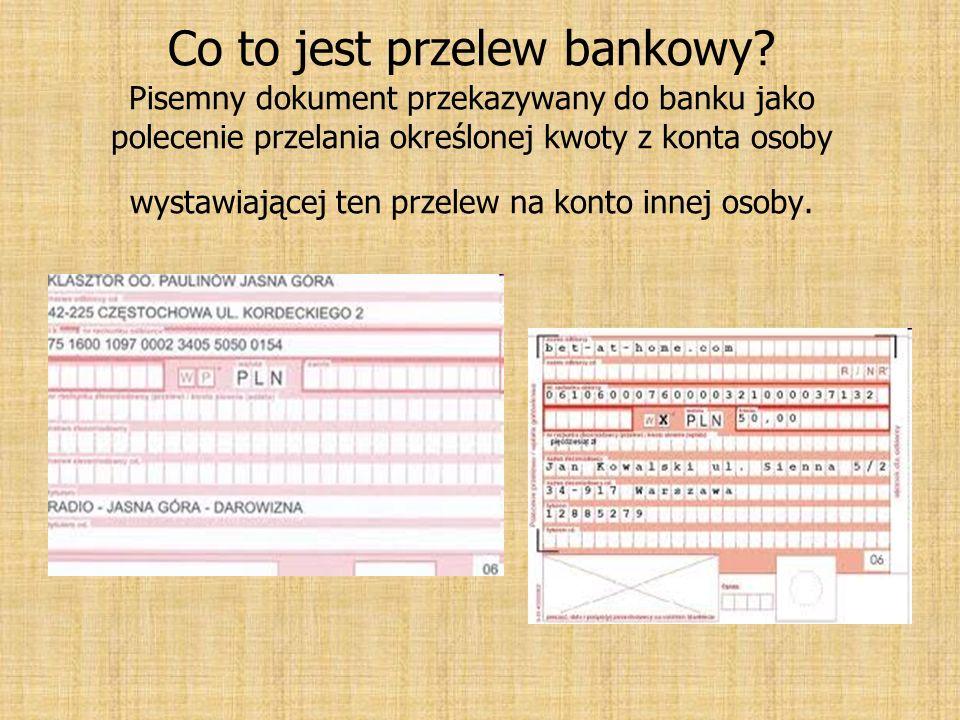 Co to jest przelew bankowy