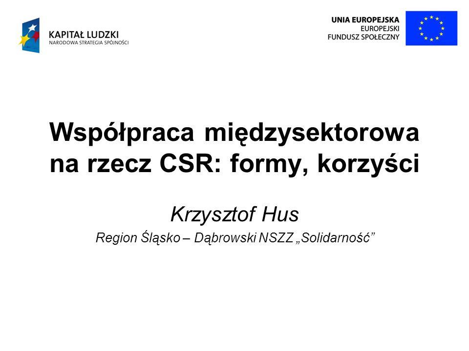 Współpraca międzysektorowa na rzecz CSR: formy, korzyści