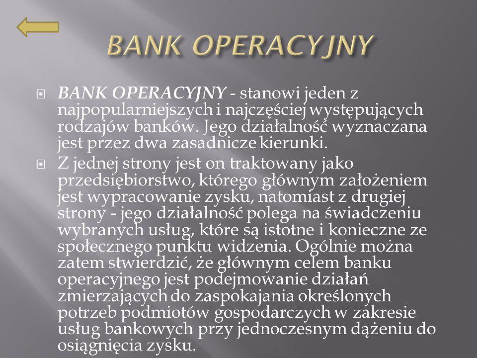 BANK OPERACYJNY