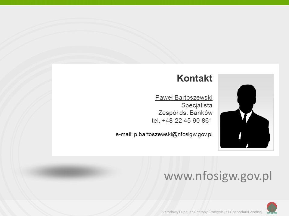 www.nfosigw.gov.pl Kontakt Paweł Bartoszewski Specjalista